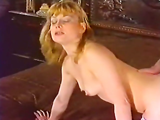 Hot tempered dude fucks small tittied vintage blonde doggy style