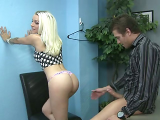 Sweet and horny teen gives her future boss a nice blowjob