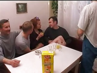 STP3 She Loves Her Weekly Fuck With Dad And His Mates !