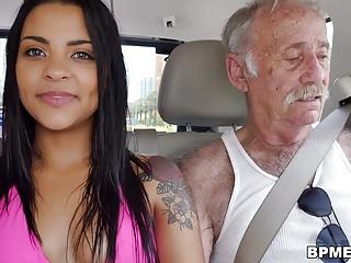 Nikki Kay Enjoys Gangbang with Old Men
