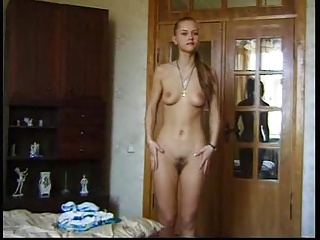 He make his stepsister to strip and fuck on cam. Part 1