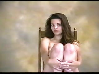 Young Cindy Brown posing at a photoshoot