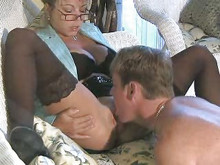 Hot Busty Blonde Cougar Amber Lynn Banged