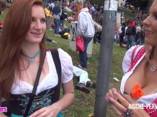 Aische Pervers - Pornocasting auf dem Oktoberfest - Teil 1