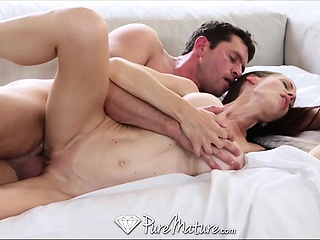 Pure Mature Housewife with big tits loves a cum facial