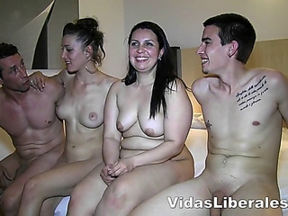 two amateur couples like the idea of switching partners, so they do