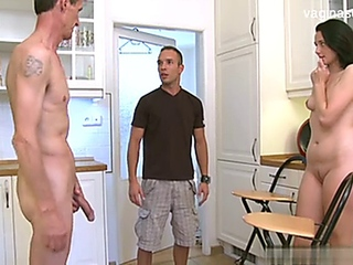 cuckold cheating sharing wifey in the kitchen