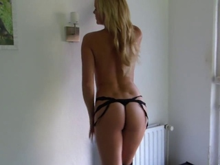 German Amateur Teen Bibi - Anal and I swallow your load