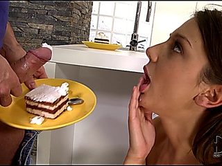 Foxy Di anal and a cake eating