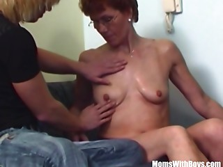 Shaggy Slit Redhead Stepmother Young slut Ottoman Drilled