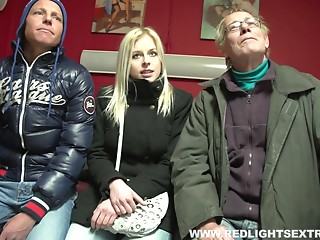 Dude picks out a cute golden-haired slut to team fuck in a sexy episode