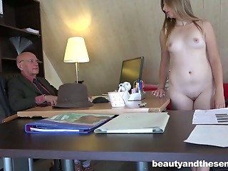 That babe desires the job so badly that babe shows up stripped to the interview