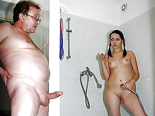 Older man Copulates a Cock-Craving Dark brown Young slut In The Shower