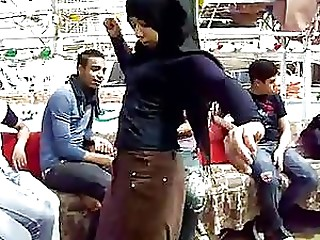 Hot Non-professional Arab Teenie Abdomen Dancing Outdoors