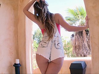 Legal age teenager babe is exposing her sexy body