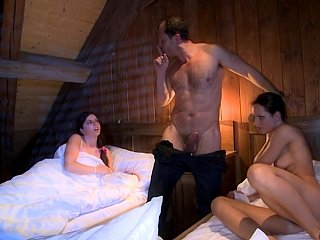 Thrilling 3some sex with wicked females