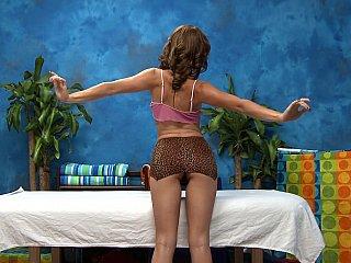Tiny masseuse likes jock explorations